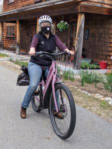 Dori on her electric bike